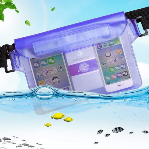 Waterproof Dry Bag Pouch For Phone Bag Adjustable Waist Strap Shoulder Bags Underwater Case For Beach Swimming Boating Fishing