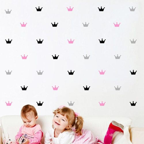 15Pcs/Set Crown Wall Stickers Kid's Bedroom Decorate Wall Decals Princess Baby Room Wall Decor Vinyl Wall Sticker for kids rooms