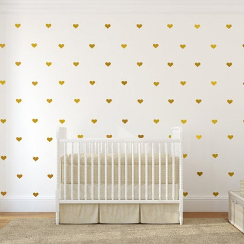 45pcs Wall Stickers Baby Decoration Room Girl Wall Decals Removable Little Hearts Stickers Home Decoration Accessories Modern