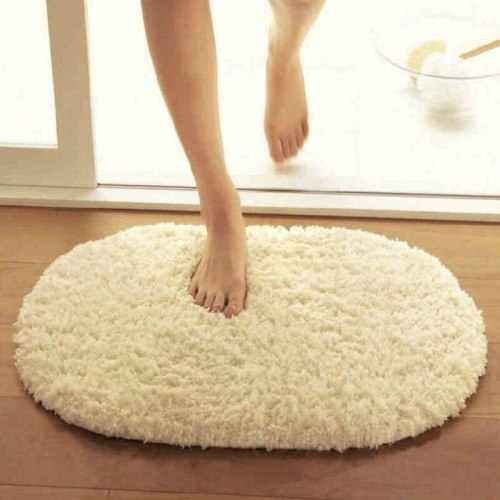 40X60CM Carpet Bath Mat Alfombra Slip-Resistant Oval Carpet Floor Mats Warm Door Carpet Tapete Bathroom Accessories