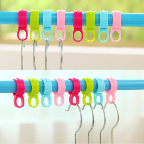 10Pcs Clothes Windproof Hanging Buckle Organizer Hooks Avoid Cloth Blown Away Home Laundry Hanging Buckle Outdoor Hanger Rack