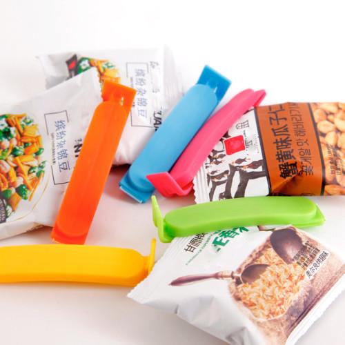 3 Pcs Food Bag Clips Snack Bag Sealer Plastic Mini Vacuum Sealer Clamp Food Clip Kitchen Accessories Keep Food Fresh