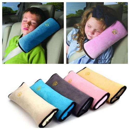 Car Neck Pillow Supports Headrest Airplane Travel Cute Pillow For Kids Safety Seat Belt Harness Shoulder Pad Children Protection