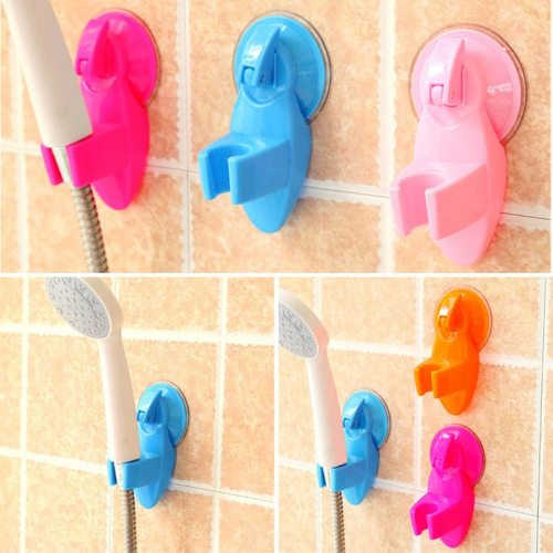 Bathroom vacuum holder wall suction cup shower head holder wall mount adjustable shower faucet head holder