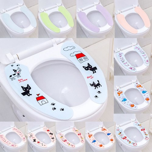 Cartoon Travel Hotel Home toilet Seat Cover Wc Accessories Adhesive Reusable Wc Mat Seat Cushion Bathroom Accessories