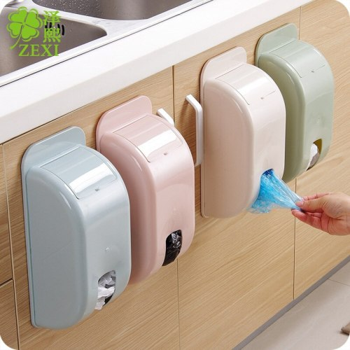 4 Color Garbage box  storage box Kitchen Bedroom Bathroom Garbage Bags Storage Holder pasting storage box