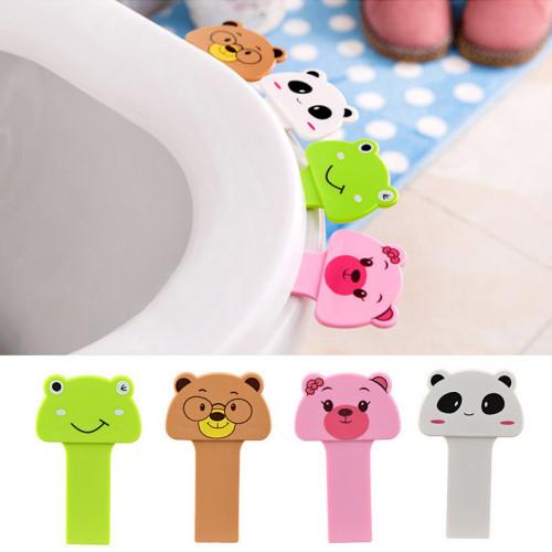 2 Pcs  Potty Ring Handle Home Product Bathroom Accessories Set Portable Convenient To Toilet Lid Device Is Mention Toilet Set