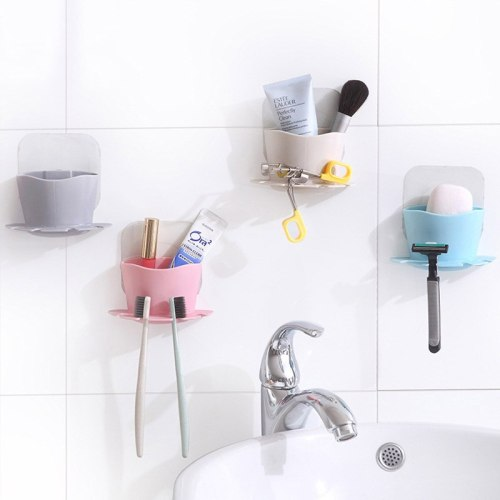 Wall-mounted toothbrush holder Bathroom Accessories Family toothpaste toothbrush storage box