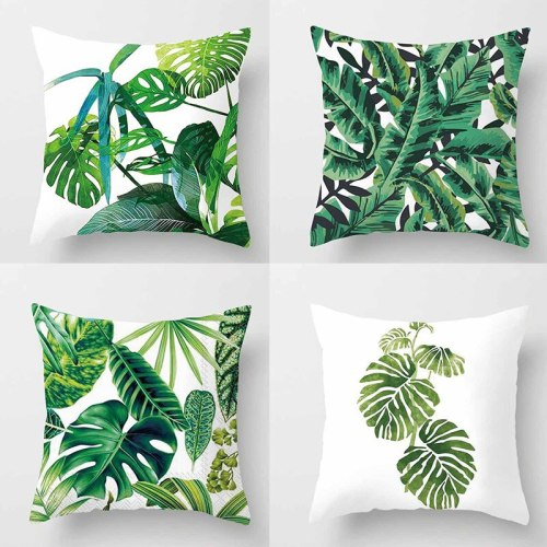 Fashion Decorative Pillow Case Cushion Cover Sofa Tropical Plant Printed  Bed Car Linen Pillow Cover Cushions Home Decor