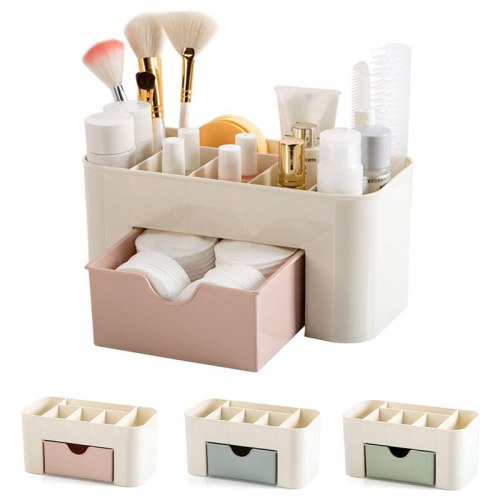 Multifunction Makeup Storage Box Plastic Cosmetic Storage Box Organizer Makeup Jewelry Container Box With Drawers Lattices