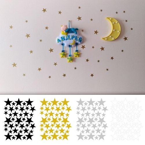 39pcs/6pcs Little Star Wall Stickers Kids Room Home Decor Wall Decals  Baby Nursery craft room house decoration