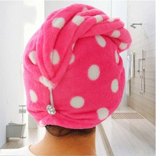 Water Absorption Bath Hair Drying Cap Head Wrap Hat Makeup Cosmetics Cap Women Girl Bathroom Accessories Toallas Flannel Thicken