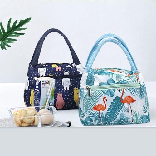 Cartoon Animal Picnic Food Storage Bag Thermo Cooler Bag Portable Food Warmer Insulation Bag Kids Lunch Box Case Organizer Bag