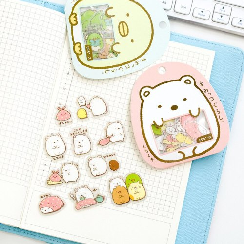 50 Pcs/set Cartoon Bear Stationery Stickers Scrapbooking DIY Decorative Stickers On The Phone Kids Album Styling Label