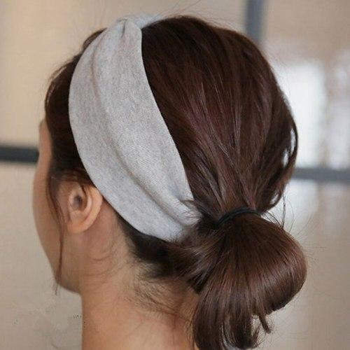 Elastic hair bands bow bathroom accessories lady bow headband cotton Head Dressing for Girls acessorio cabelo faixa de cabelo