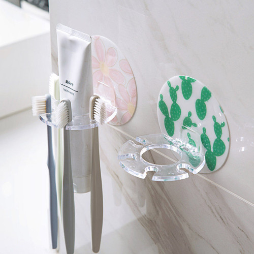 Creative Home Toothbrush Holder Flower Cactus Facial Cleanser Toothpaste Storage Rack Bathroom Accessories