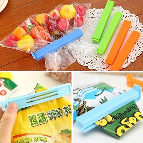 6Pcs cute fook snack bag clip children bags resealer clips sealing of plastic sealer clamp manual sealing plastic storage tools