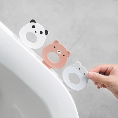 2Pcs Home Cartoon Animal Toilet Seat Lifter Avoid Touching Closestool Seat Cover Lift Device Handle Bathroom Accessories