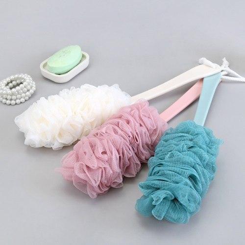 Soft Mesh Bath Brush body Long Handle back scrubber shower brush Sponge For Skin Care Bathroom Accessories