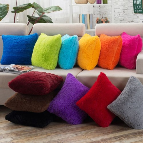 Beautiful Sofa Waist Throw Cushion Case For Home Decor Sofa Cushions Plush Solid Color pillowcase cushion