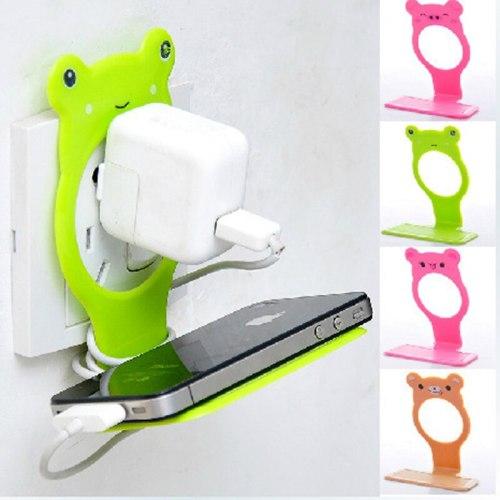 Bear Shape decorative hanging hooks for hanging Multi-function Phone Charger storage phone charger bracket