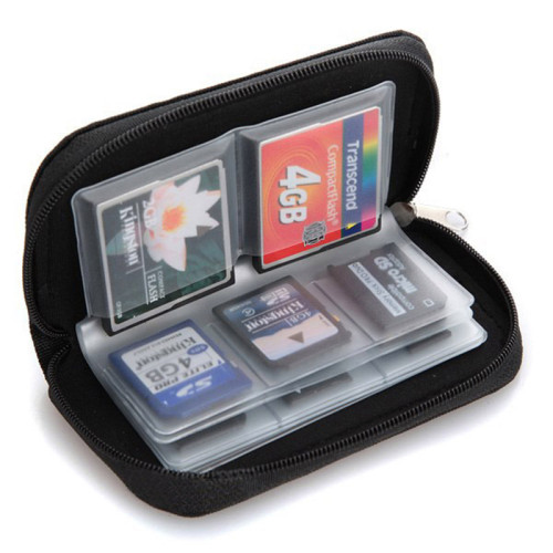 Hot practical storage box SD SDHC MMC CF micro SD memory cards storage bag organizer 22 cards place hoders