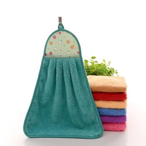 Soft Microfiber Hand Towel Bathroom Kitchen Hanging Cloth Household Coral Velvet Towel For Kids Kindergarten Travel Accessories