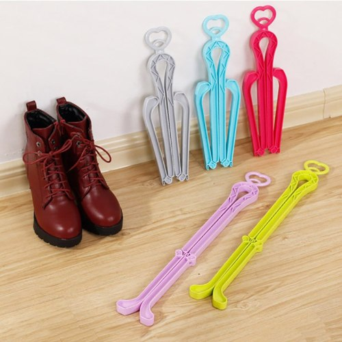 Creative Women Boot Rack Plastic Love Boot Shaper Stretcher Shoe Storage Rack Boots Stand Supporter