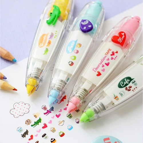 Sweet Heart Decoration Tape Pen Love Stickers Scrapbooking Kawaii Stationery Pens Diy Scrapbooking Material Kids Christmas Gift