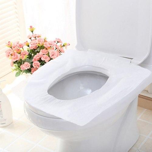 10Pcs/pack Travel disposable toleit seat cover mat 100% waterproof toilet paper pad toilet cover set personal clean