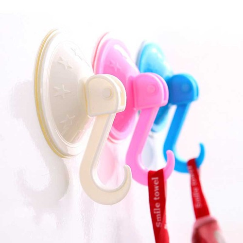 2Pcs  Towel Dishcloth Hanger Bathroom Kitchen Tools ABS Suction Cup Hooks Hanging Strong Wall Sucker Vacuum Traceless Hooks