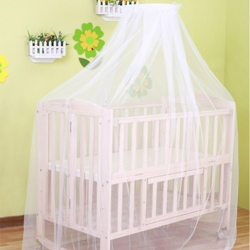 2019 Baby hung home mosquito net white crib bed curtain portable crib tent for baby bed curtains for baby