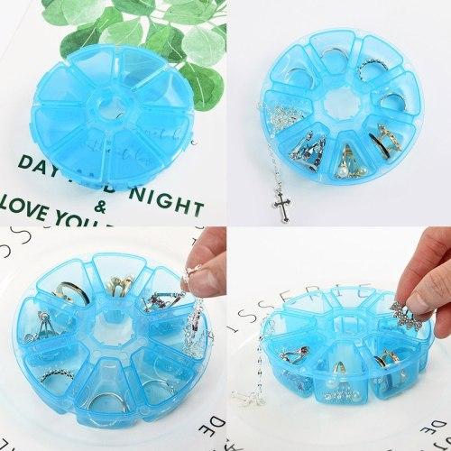 8 Slots Transparent Jewerly Box Plastic Jewerly Organizer For Earrings Ring Necklac Storage Box Handmade Craft Storage