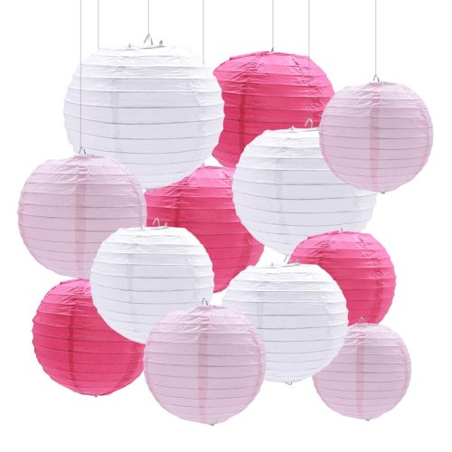 1Pc 4-12inch Round Chinese Paper Lanterns Hanging Lantern Ball for Wedding Birthday Party Decoration Supplies Baby Shower Favors