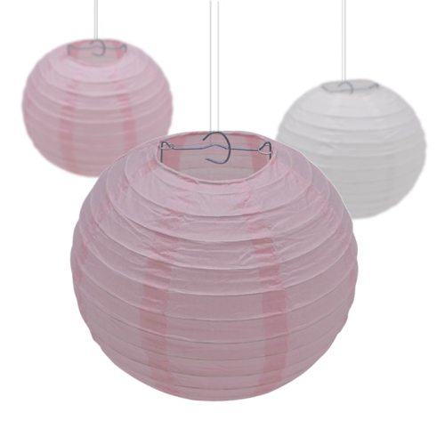 5Pcs 10-15-20-25-30cm Decorative Paper Ball Lanterns Chinese Paper Lantern Hanging Lampion for Wedding Party Festival Decoration