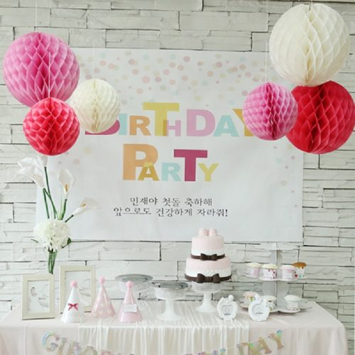 5pcs 5/10/15/20cm Tissue Paper Hanging Lantern Honeycomb Balls Flower Pastel Festival Wedding Birthday Party Decorations