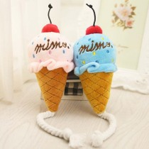 Lovely Funny Pet Supplies Product Dog Toy Puppy Plush Squeak Toy For Small Cat Dogs Pet Toys Chew Ice Cream Play Toys
