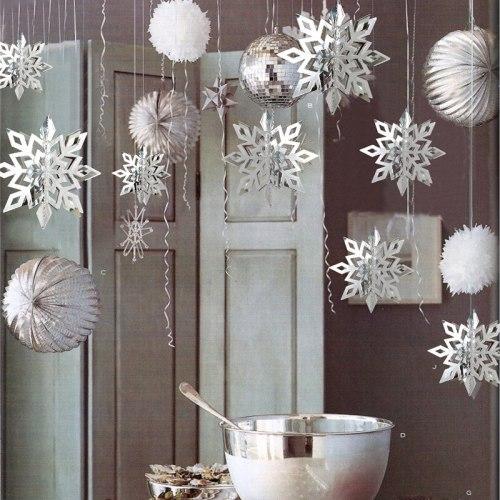 6Pcs 3M Christmas Snowflake Garland Christmas Tree Ornament DIY Christmas Home Decoration Wedding Birthday Party Decoration 2020