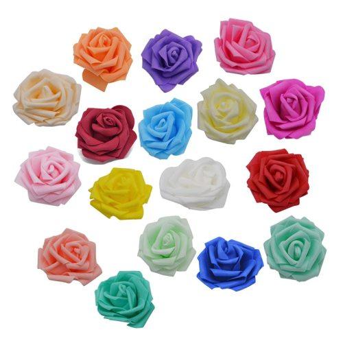 17 Colors 10/20/50 Heads 8CM Artificial Flowers Wedding PE Foam Rose DIY Home Garden Christmas Event Decoration Fake Flower