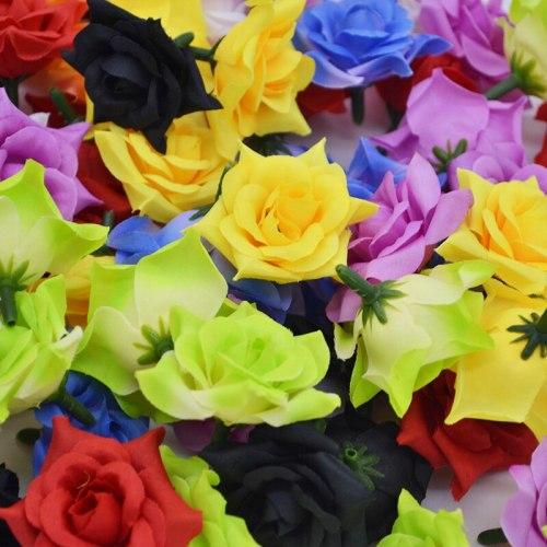 20Pcs/lot Artificial Flowers Silk Flower Heads DIY Home Decoration Wedding Party Supplies Handmade Wreaths
