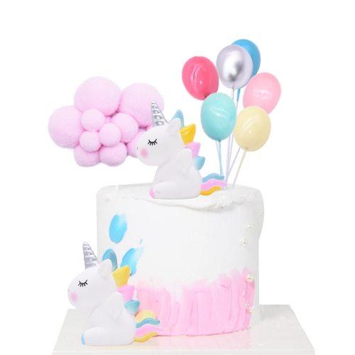 Rainbow Unicorn Cake Topper Wedding Birthday Party Cake Decoration Kids Favors Cake Flags Cupcake Topper Unicorn Party Supplies