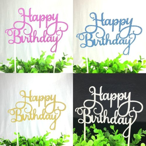 New Arrival Cupcake Cake Topper Happy Birthday Cake Flags Kids Happy Birthday Party Baking Decoration DIY Cake Decor Supplies