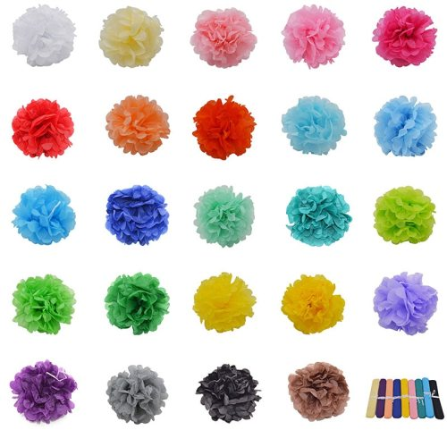 Multicolor 4  6  8  10  12  5pcs Paper Flowers Ball Wedding Home Birthday Party Car Decoration Tissue Paper Pom Poms Lantern