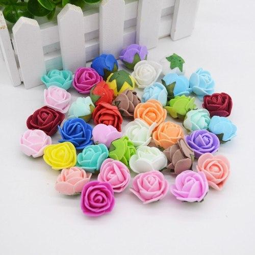 50pcs/lot 2cm PE Foam Rose Flower Head Artificial Rose Flowers Handmade DIY Wedding Home Decoration Festive & Party Supplies
