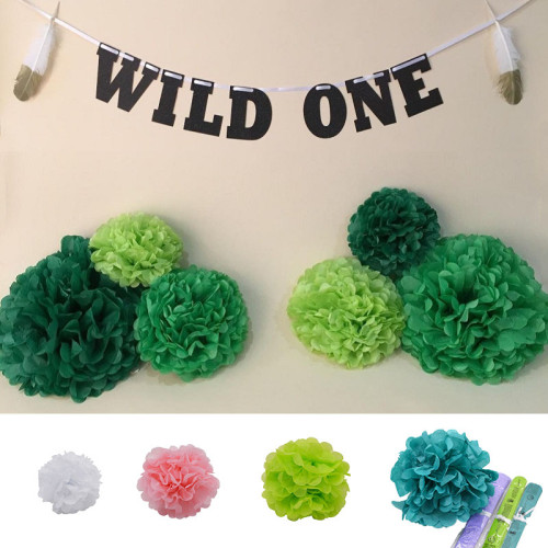 1Pc 4  6  8  10  12  Tissue Paper Pom Poms Paper Flower Ball Pompom  for Wedding Birthday Party Shower Home Garden Decoration