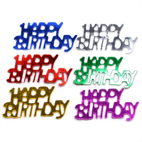 15g/bag Happy Birthday Confetti Party Wedding Decoration Sparkle Sequin Brithday Party Decoration Supplies