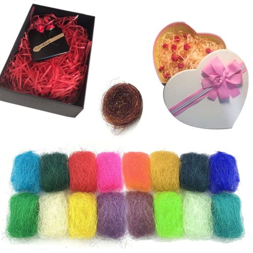 50g/bag Nature Sisal Rustic Wedding DIY Flower Bouquet Gift Box/Pakage Decor Wrapping Supplies Nest Art Craft Made Sisal