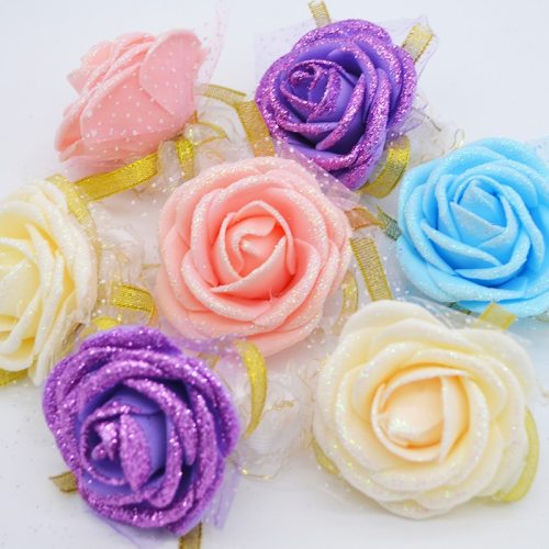 10pcs Rose Wrist Corsage Bridesmaid Sisters hand flowers Artificial Bride Flowers For Wedding Party Decoration Bridal Prom