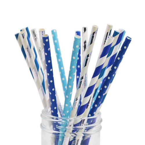 25Pcs Drinking Paper Straws Gold Silver Straw Baby Shower Kids Happy Birthday Party Wedding Decoration Event Christmas Supplies