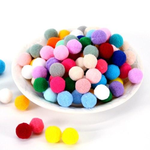 Plush Pompom 15mm 20mm 25mm Soft Pompones Fluffy Plush Balls  Pom Poms Furball DIY Handmade Craft Material weeding home Decor